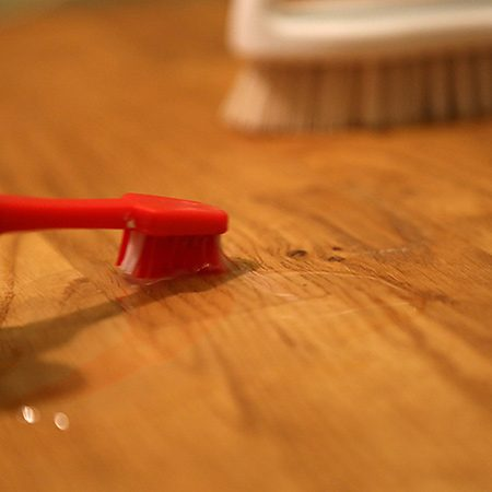 <b>Stay On Top of Spots</b></br> <p>In order to avoid water damage, clean small spots frequently with your chosen cleaning solution. You're better able to control the amount of liquid you're putting on the floor and can quickly wash and dry. This will help avoid large-scale exposure to moisture while still keeping your floors clean.</p>