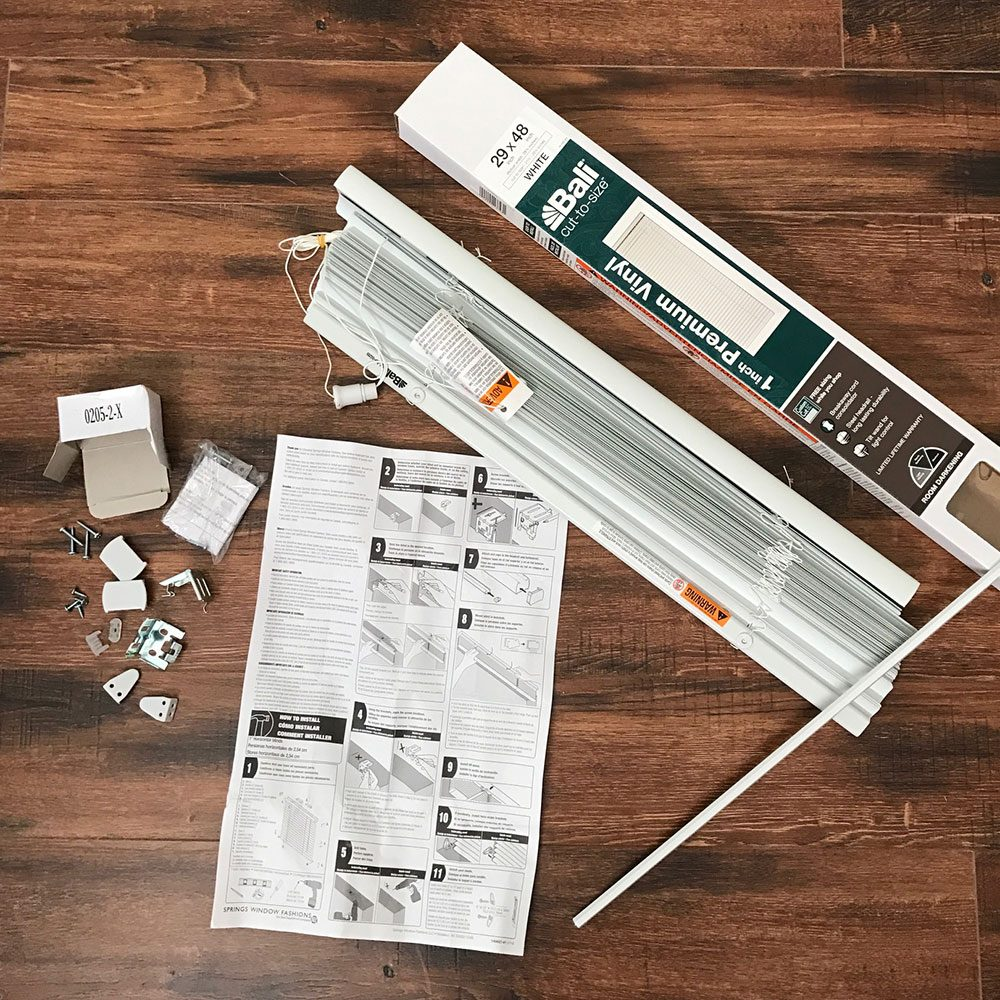 <b>Open the package </b></br> When you open the box, grab the instructions and see what's supposed to be included. Make sure it's all there before you do anything else. Also, be sure you have a drill/driver (or screwdriver) and a pencil to mark the  locations of the bracket holes.