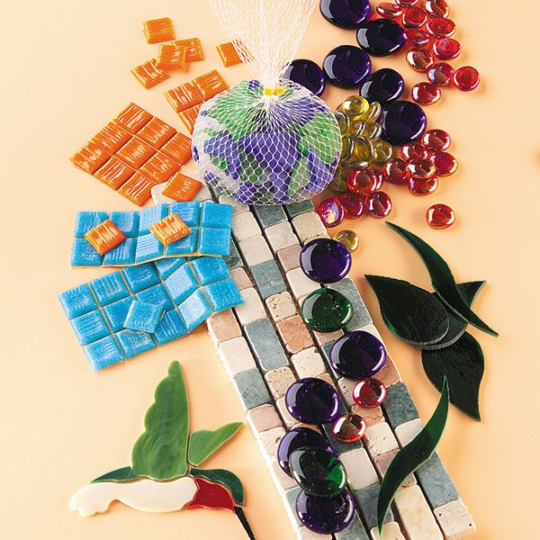 Customize stepping-stones with glass beads, tiles and countless other embellishments available at craft stores and online.