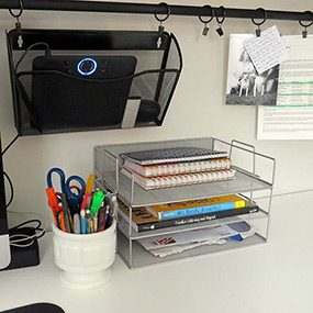 office desk shelving. Plain Shelving 8 Home Office Desk Organization Ideas You Can DIY For Shelving