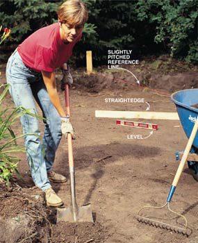 Photo 3: Excavate the patio