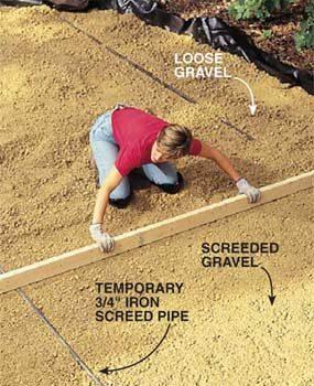 Photo 7: Level the gravel