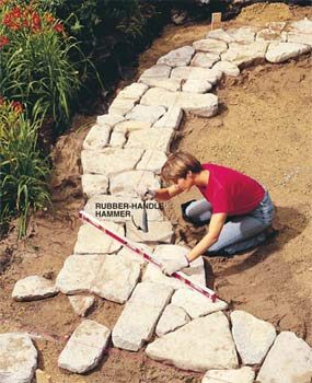 Captivating Build A Stone Patio Or Brick Patio
