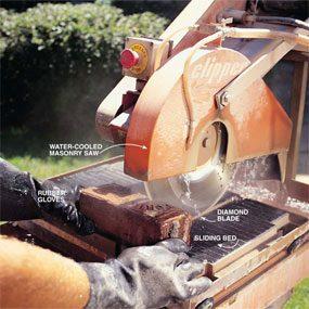 Photo 14: Cut with a masonry saw