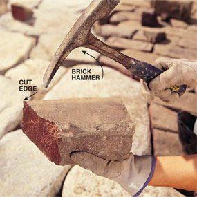 Photo 15: Chip the brick edges