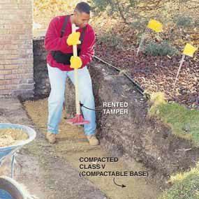 Photo 2: Compact a gravel base