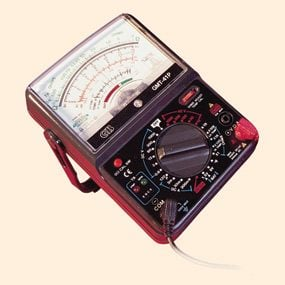 Close-up of multimeter