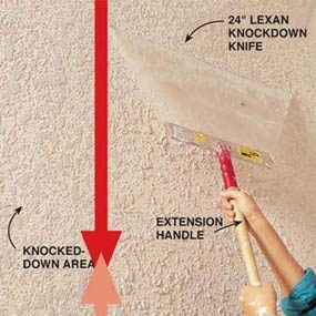 How To Texture A Ceiling Apply Knockdown The Family Handyman