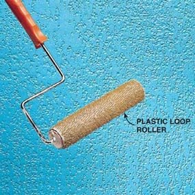 Plastic loop roller, ceiling texture roller