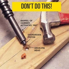 Don't overdrive the fastener!