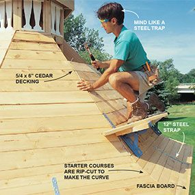 Nail the roof decking