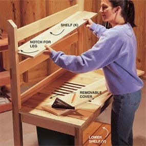 How to Build a Cedar Potting Bench