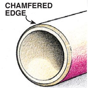Tube with chamfered edge