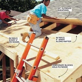 Photo 17: Install roof sheathing