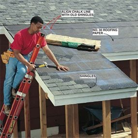 Photo 19: Shingle the roof