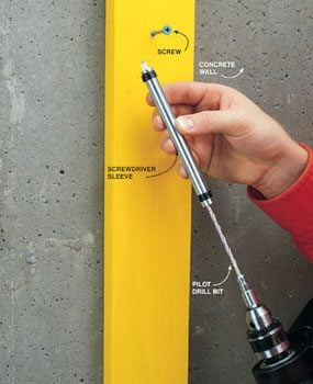 Photo 5: Driver/concrete bit combo tool