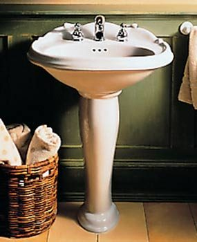 american standard how to plumb a pedestal sink