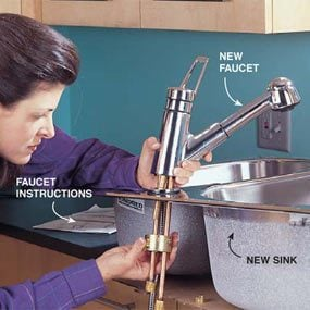 Photo 2: Install the new faucet