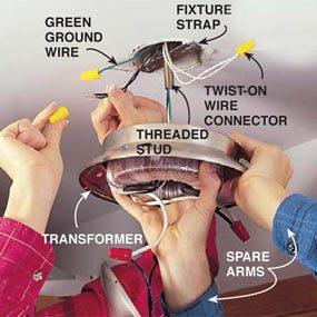 Photo 9: Connect the low voltage transformer