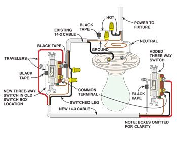Power to light wiring diagram