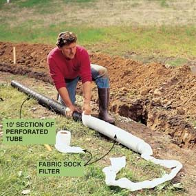Install an in ground drainage system family handyman for Outdoor ground drains
