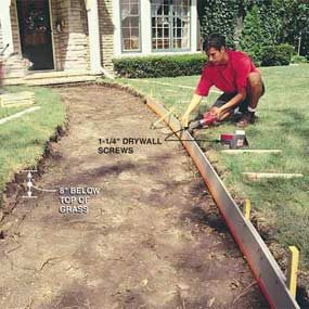 How To Pour A Concrete Sidewalk The Family Handyman
