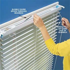Fixing The Lift Cord On A Miniblind The Family Handyman