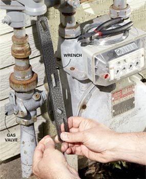 Photo 4: Hang a wrench near the shutoff