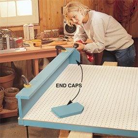 Photo 3: Attach end caps
