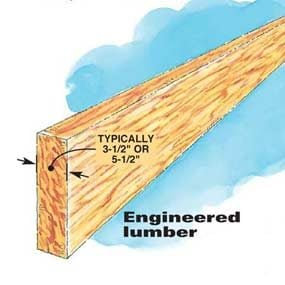 Figure E: Engineered lumber header