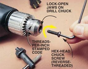 How to Install a Keyless Drill Chuck