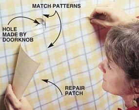 Photo 1: Match patterns with new paper