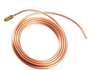 Use copper or braided stainless steel tubing