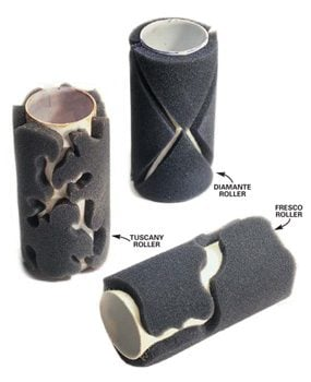 A sampling of the roller patterns that are available.