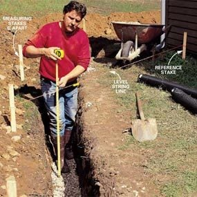 Photo 2: Leveling trenches