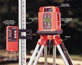 Photo 6: Self-leveling laser level