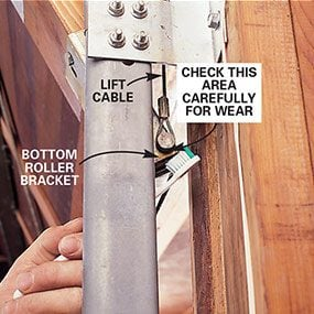 Photo 3: Inspect the lift cable for wear