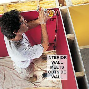 Insulating hidden cavities will help remove mold from walls.