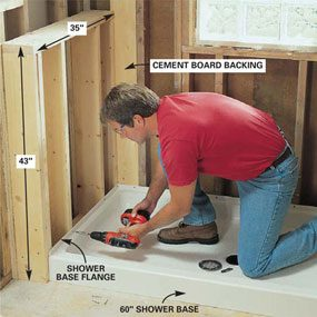 Photo 14: Install the shower base