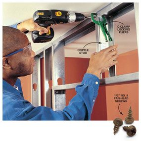 Photo 3: Mark, clamp, then screw