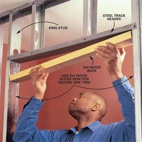 Photo 4: Doorway framing techniques