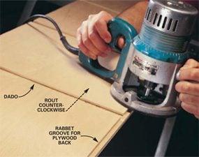 Photo 1: Cutting a rabbet