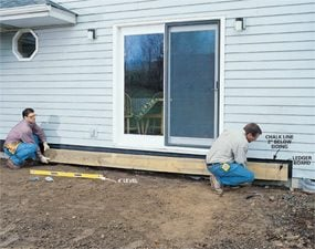 Photo 1: Remove the siding