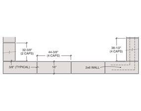 Figure J: Concrete Cap Dimensions
