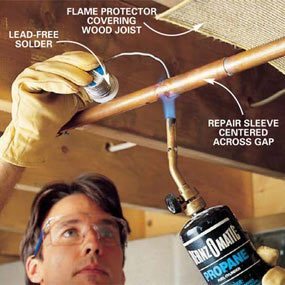 How to Repair a Leaking Copper Pipe