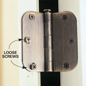 Loose hinge screws