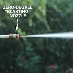Zero-degree nozzle