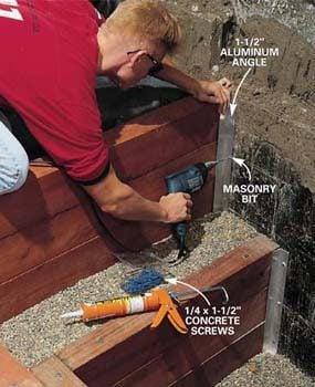 Photo 12: Predrill for concrete anchors
