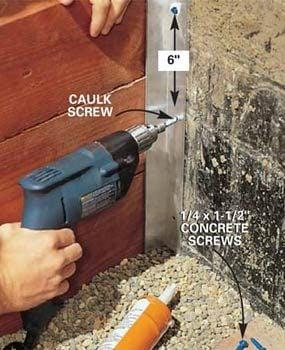 Photo 13: Drive concrete screws