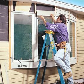 how to install a bow window family handyman installing bow window how install bow window the family